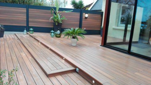 Terrasse et clôture en composite