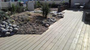 terrasse plage galets